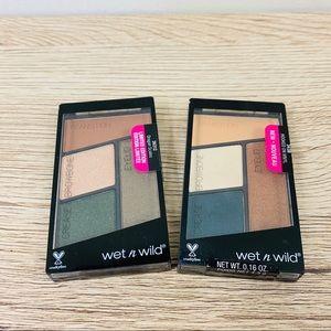 TWO Unopened Wet n Wild Eyeshadow Quad